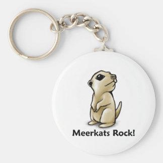 ¡Roca de Meerkats! Llavero Redondo Tipo Pin