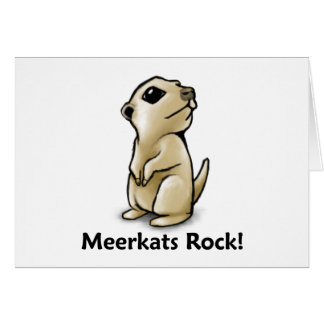 ¡Roca de Meerkats! Tarjeta De Felicitación