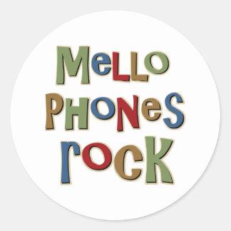 Roca de Mellophones Pegatina Redonda