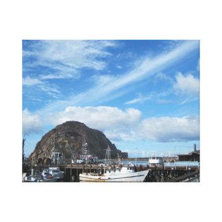Roca de Morro, barcos de pesca y el Embarcadero Impresión En Lona Estirada