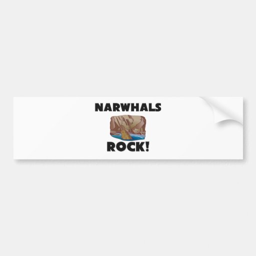 Roca de Narwhals Etiqueta De Parachoque