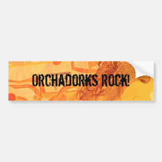 ¡Roca de Orchadorks! Etiqueta De Parachoque