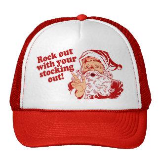 Roca de Papá Noel hacia fuera Gorro
