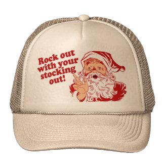 Roca de Papá Noel hacia fuera Gorra