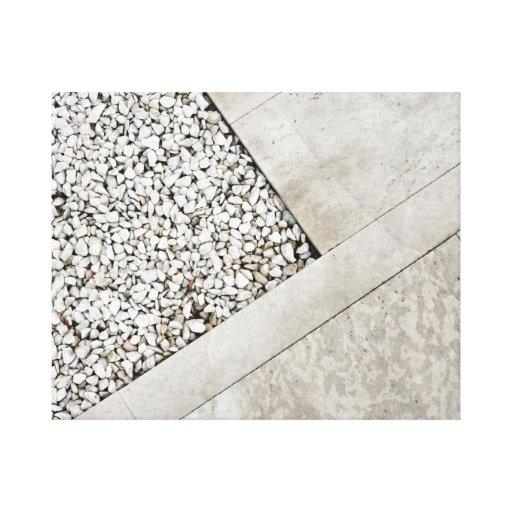 roca de piedra mínima del pavimento de la arquitec impresión en lona