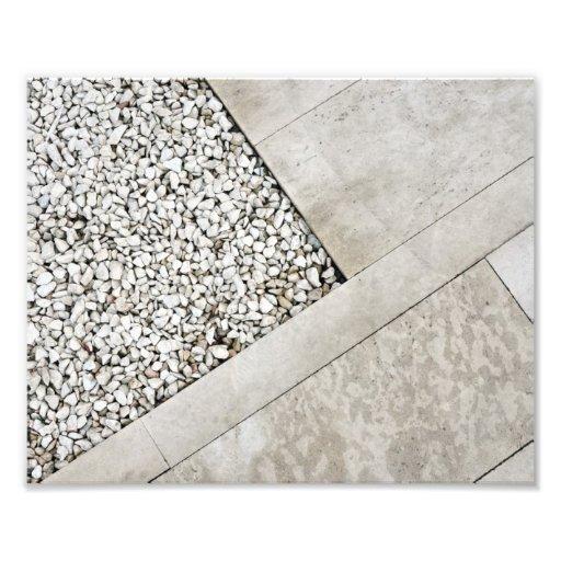 roca de piedra mínima del pavimento de la arquitec impresiones fotograficas