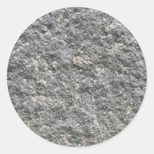 Roca de piedra pegatina redonda