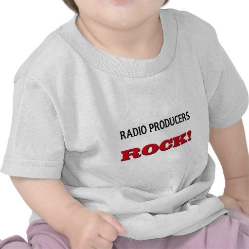 Roca de radio de los productores camiseta