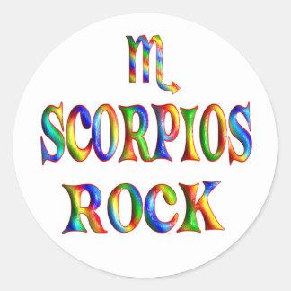 Roca de Scorpios Etiquetas Redondas