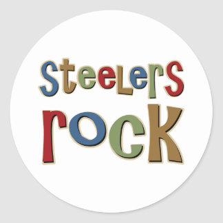 Roca de Steelers Pegatina Redonda
