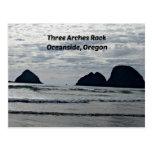 Roca de tres arcos, costa, Oregon Postal