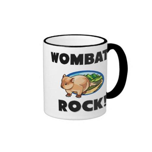 Roca de Wombats Taza A Dos Colores
