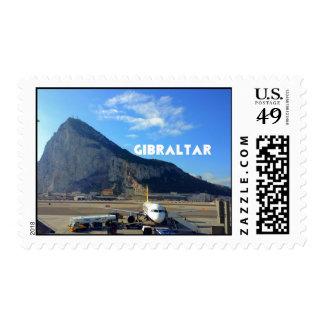 Roca del aeropuerto de Gibraltar Estampillas