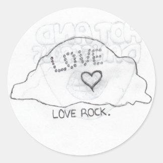 roca del amor etiquetas redondas