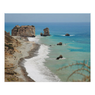 Roca del Aphrodite, Chipre Posters