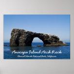 Roca del arco de la isla de Anacapa Póster