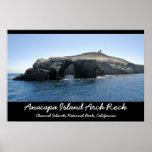 Roca del arco de la isla de Anacapa Poster