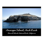 Roca del arco de la isla de Anacapa Tarjeta Postal
