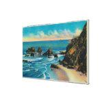 Roca del arco del punto del maxwell, OceansideCoas Lona Estirada Galerias