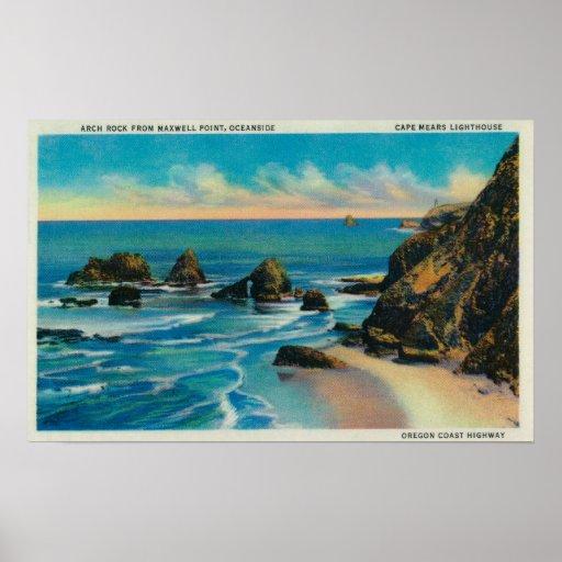 Roca del arco del punto del maxwell, OceansideCoas Poster