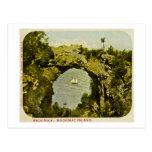 Roca del arco, vintage de la isla de Mackinac Tarjeta Postal