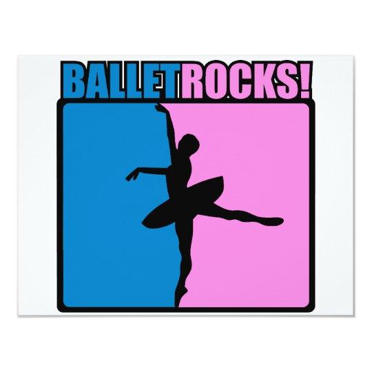 """¡Roca del ballet! Invitación 4.25"""" X 5.5"""""""