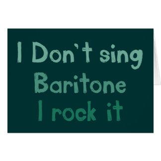 Roca del barítono él tarjeta de felicitación