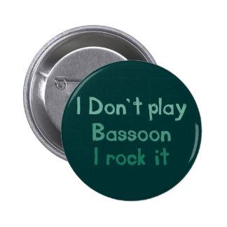 Roca del Bassoon él botón Pin Redondo De 2 Pulgadas
