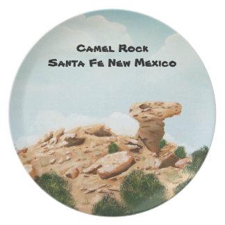 Roca del camello - pintura al óleo de Santa Fe Ne Plato De Cena