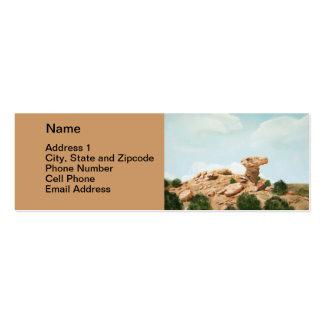 Roca del camello - pintura al óleo de Santa Fe, Tarjetas De Visita Mini