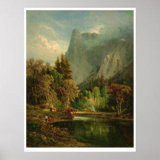 Roca del centinela, Yosemite, California (0797A) Póster