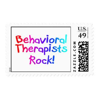 Roca del comportamiento de los terapeutas estampilla