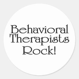 Roca del comportamiento de los terapeutas pegatina redonda