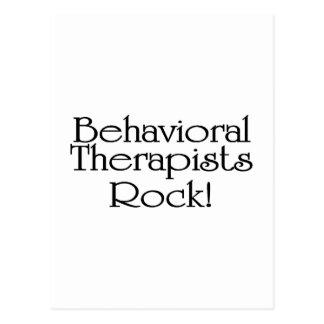 Roca del comportamiento de los terapeutas postal