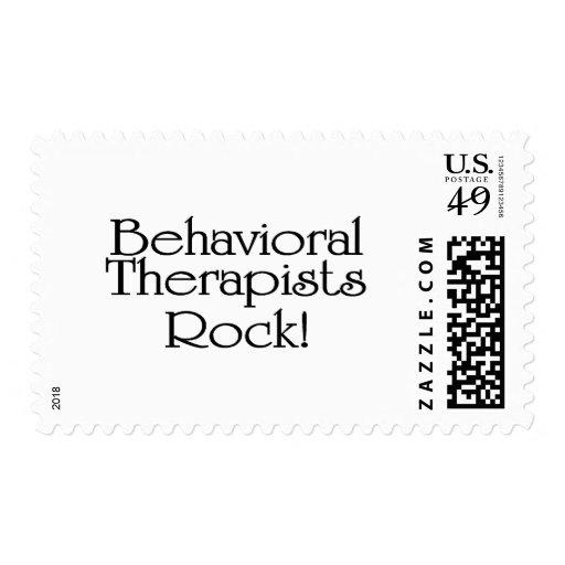 Roca del comportamiento de los terapeutas timbres postales