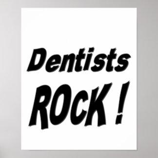 ¡Roca del dentista Impresión del poster