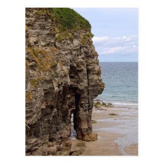 Roca del elefante, Bossiney, Cornualles Postal