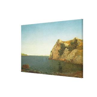 Roca del faro, puerto de Newport, 1857 Impresiones En Lona