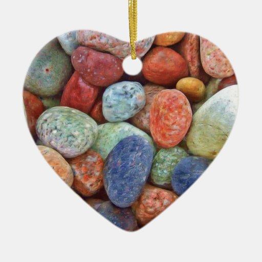 ¡roca del fraggle! adorno navideño de cerámica en forma de corazón