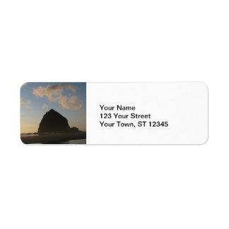 Roca del Haystack, playa del cañón Etiqueta De Remitente