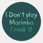 Roca del Marimba él pegatinas Pegatina Redonda