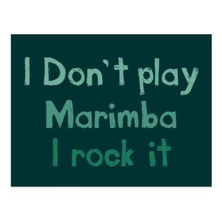 Roca del Marimba él postal