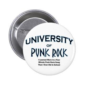 roca del música-punk pin redondo de 2 pulgadas
