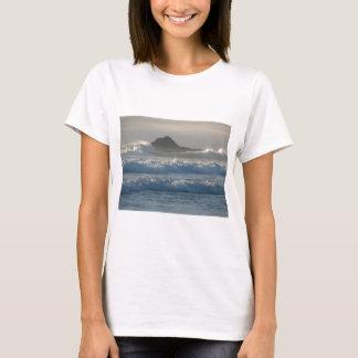 Roca del océano playera