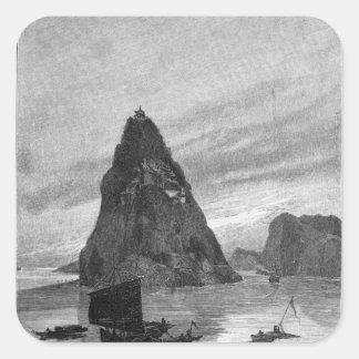 Roca del pequeño huérfano en el río Yangzi Colcomania Cuadrada