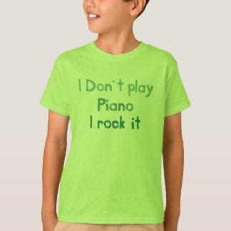 Roca del piano él - bebés de los niños n playera