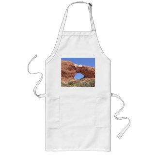 Roca del rojo de Utah Delantal Largo