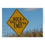 Roca + Del rollo extremos nunca, pintada de la pla Tarjeta De Felicitación