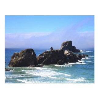 Roca del sello, Oregon en postal del verano