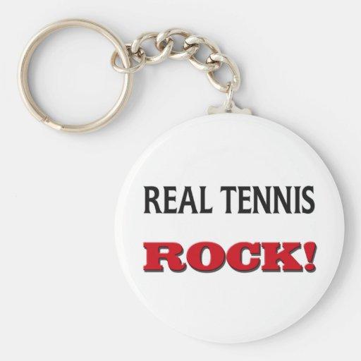 Roca del tenis real llaveros personalizados